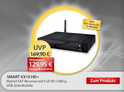 Hybrid-Receiver Smart VX10 HD+ als OHA-Angebot für 129,95 Euro