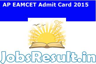 AP EAMCET Admit Card 2015