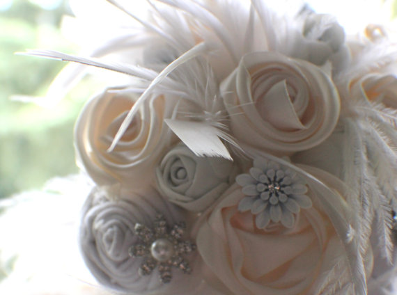 Cloud 9 Weddings Amp Papers Were Crazy About Fabric Bouquets