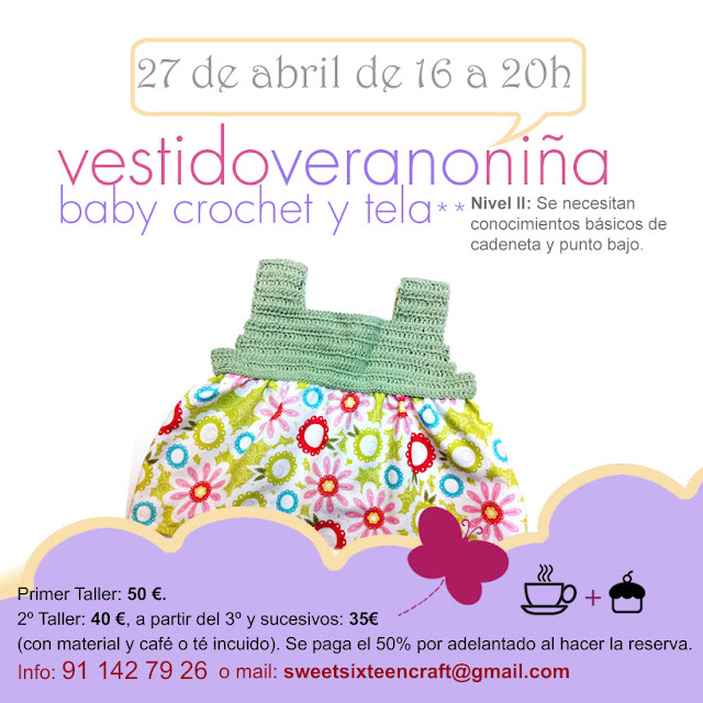 Taller monográfico Vestido niña en Sweet sixteen craft store Madrid