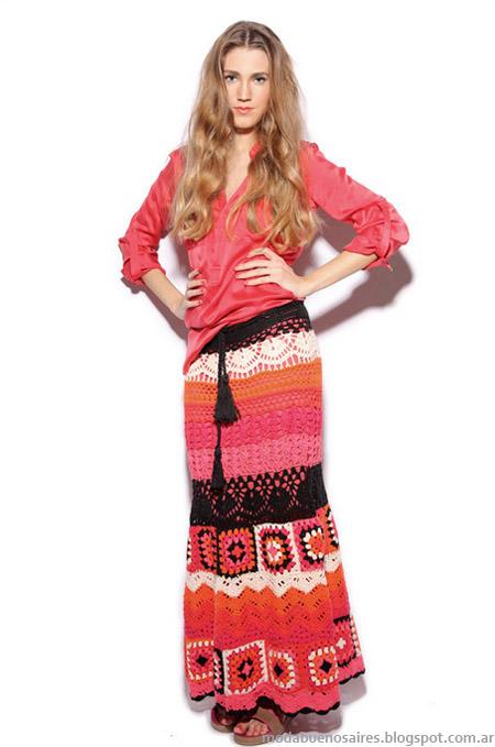 Moda verano 2013: Agostina Bianchi faldas verano 2013