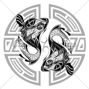 Pisces Zodiac Signs and Symbols Wallpaper