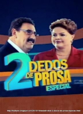 'Programa do Ratinho' o Quadro 'Dois 2 Dedos de Prosa' Especial mostrando Dilma Rousseff com Ratinho - Outubro 2013