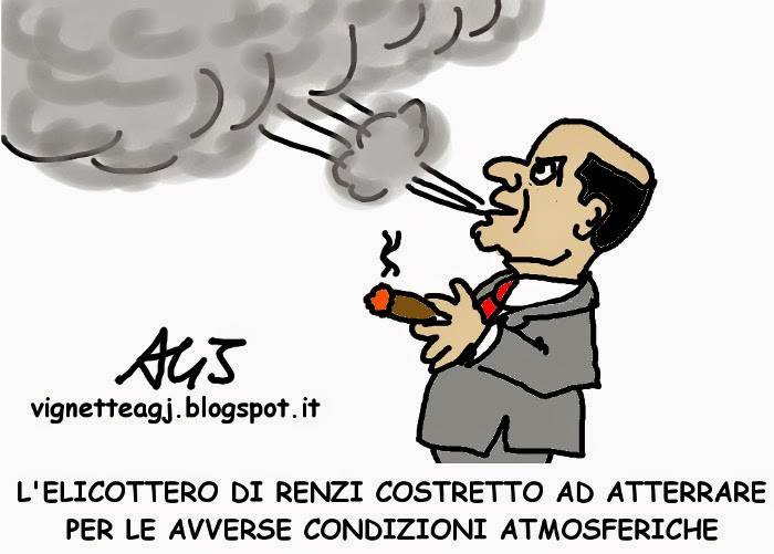 Renzi, elicottero, renzicottero, satira , vignetta , bersani