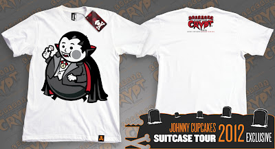 "Johnny Cupcakes 2012 Suitcase Tour ""Cupcakes From The Crypt"" Exclusives - Vampire Big Kid"