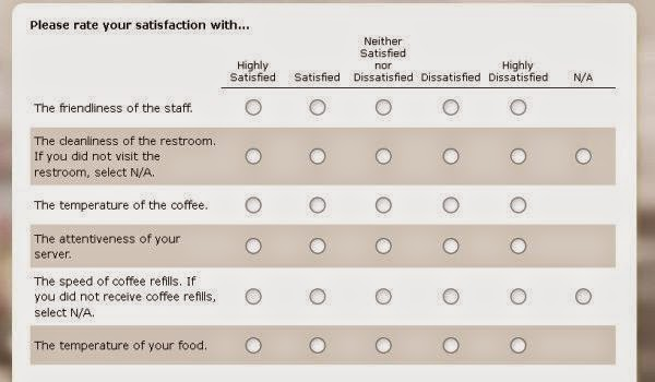 Denny's Listens Guest in Satisfaction Survey page
