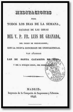 Meditaciones de Fray Luís de Granada
