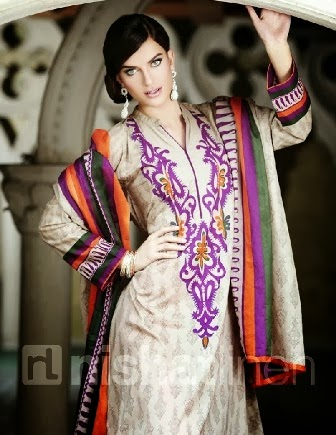 New Nishat Linen Collection Neck Designs