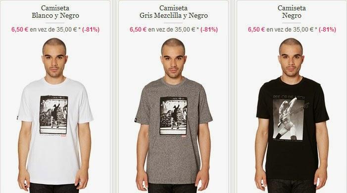 Ejemplos de camisetas de manga corta de esta oferta