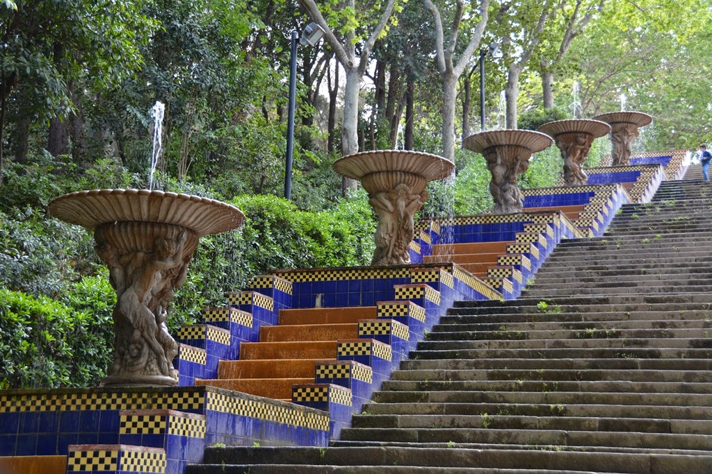Montjuic Barcelona stairs