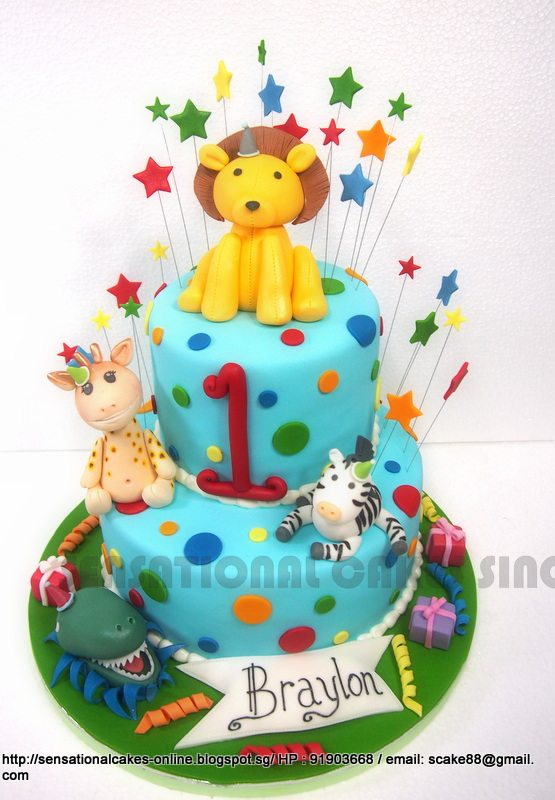 The Sensational Cakes LION 1ST BIRTHDAY CAKE SINGAPORE ANIMALS