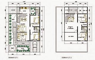 50 contoh gambar denah rumah minimalis rumah minimalis