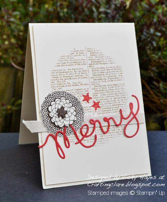 Stampin' Up Petal Parade stamp set free with orders of £45 or more during Sale-a-bration 2014