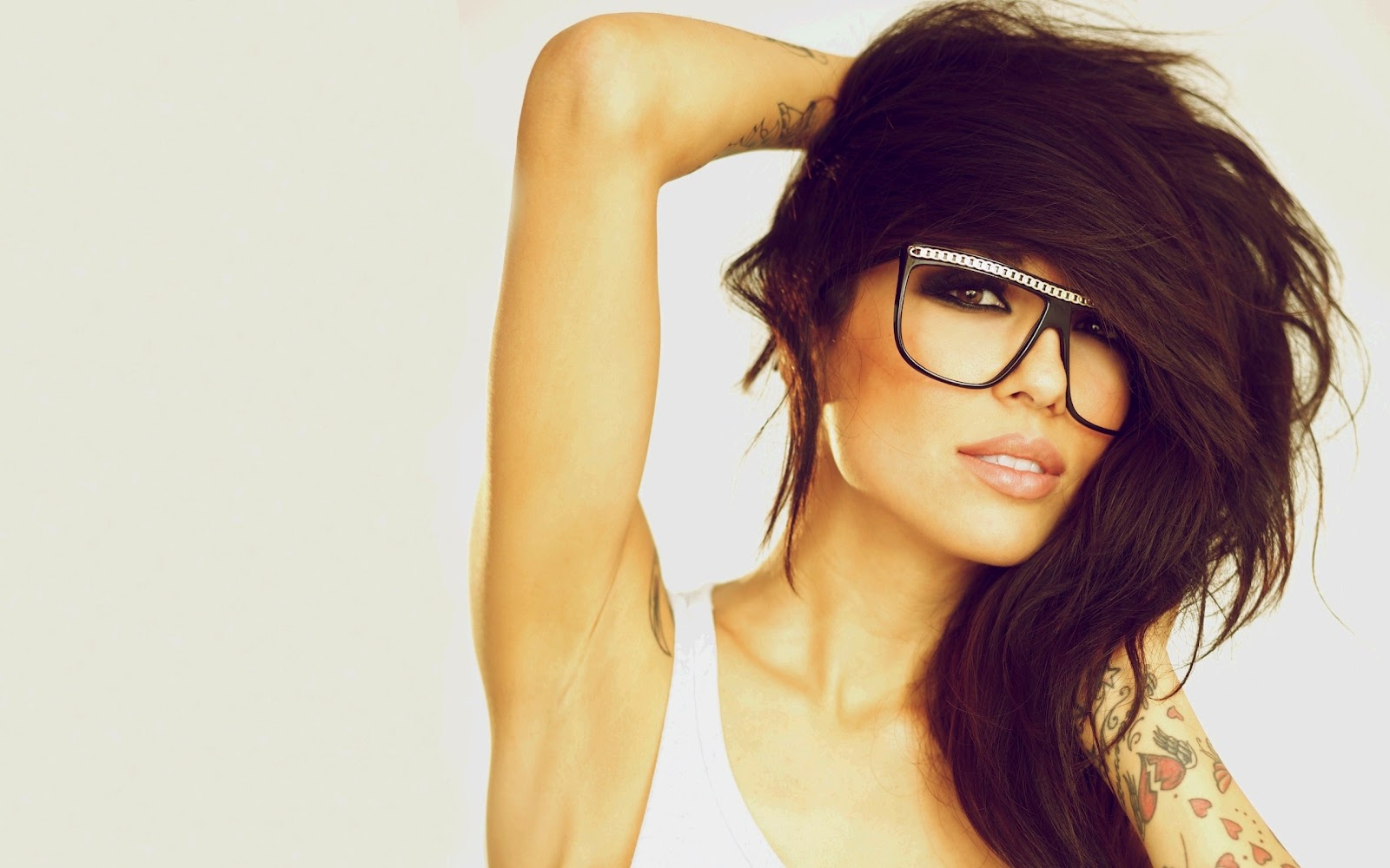 Girl Glasses Hipster Hair Style HD Wallpaper Wallpapers  Epic