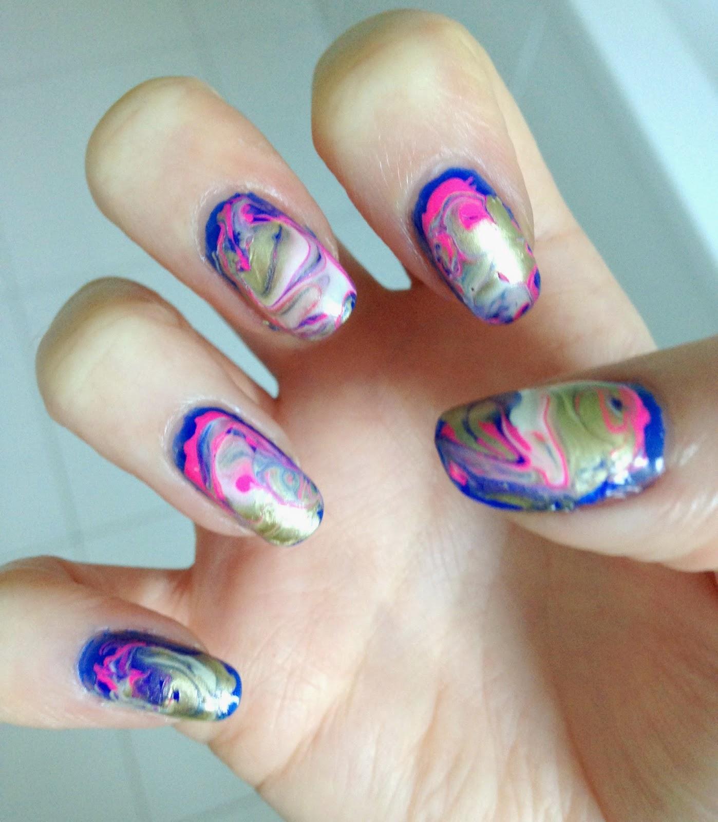 Made of Codes: WAH Nails: Marble Nail Art
