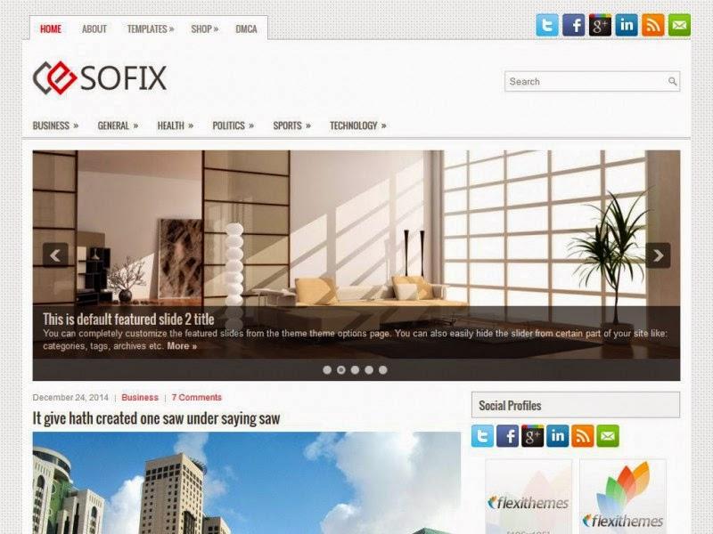 Sofix - Free Wordpress Theme
