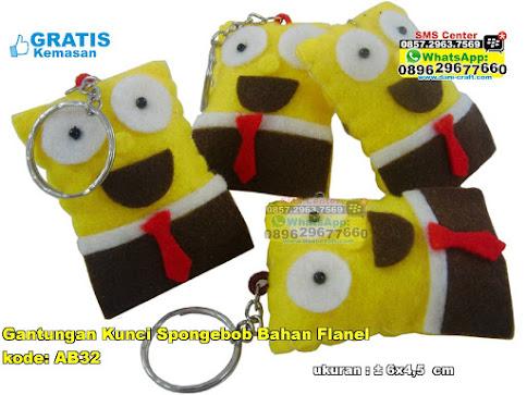 Gantungan Kunci Spongebob Bahan Flanel grosir