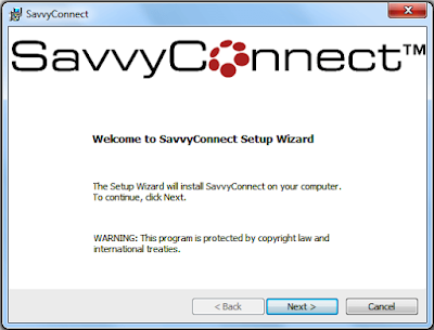 Savvyconnect® installation procedure