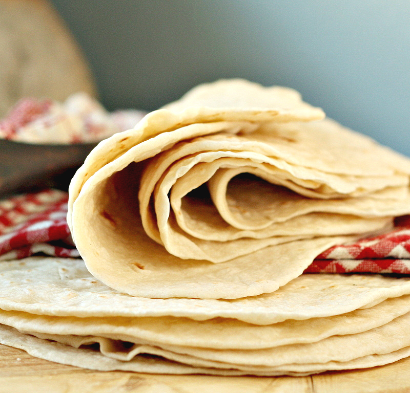 The Best Homemade Flour Tortillas - Sprinkled with Flour