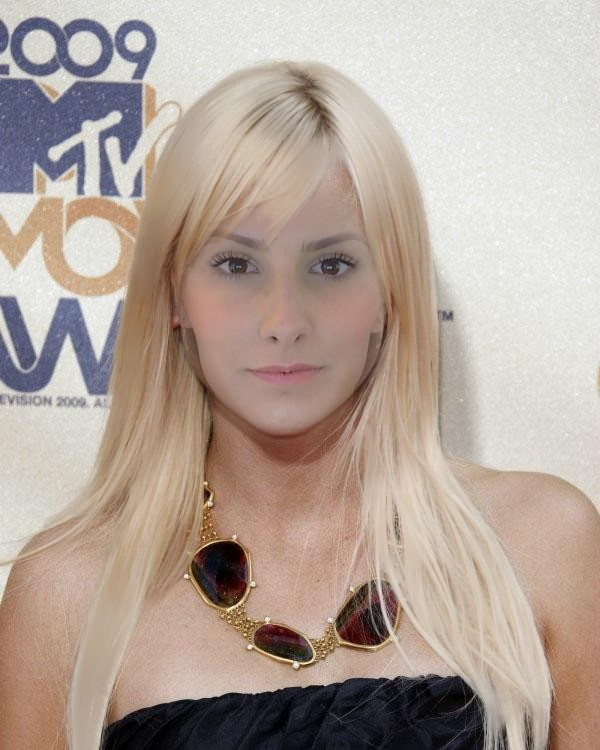 Here is me with Platinum hair! (Anna Faris). With med. blonde hair.
