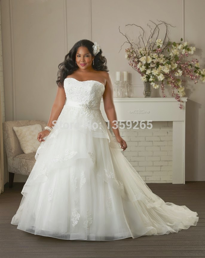Big fat brides plus size wedding dresses 2015 bridal dresses for Best wedding dresses for short fat brides
