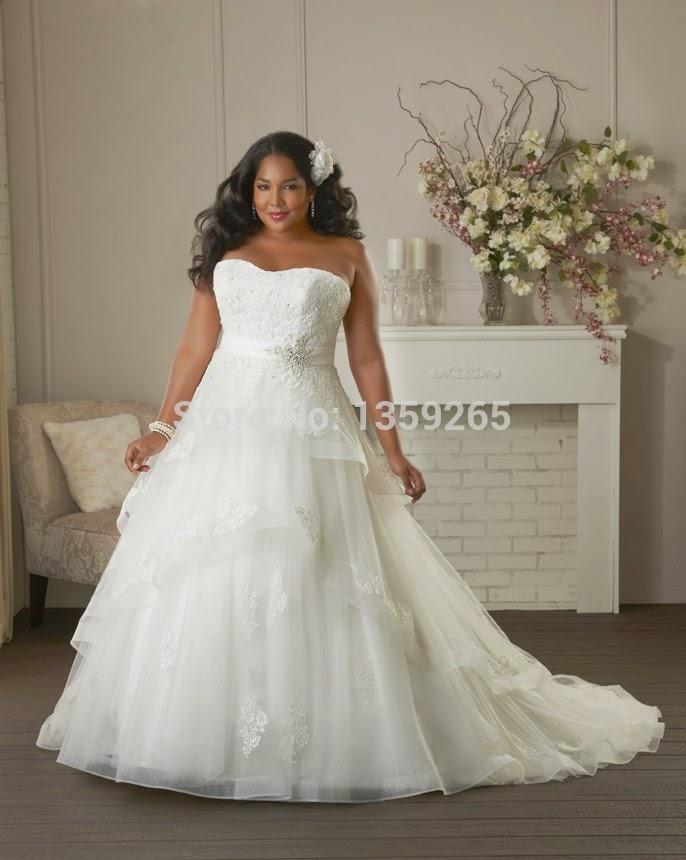 Big fat brides plus size wedding dresses 2015 bridal dresses for Wedding dresses for chubby brides