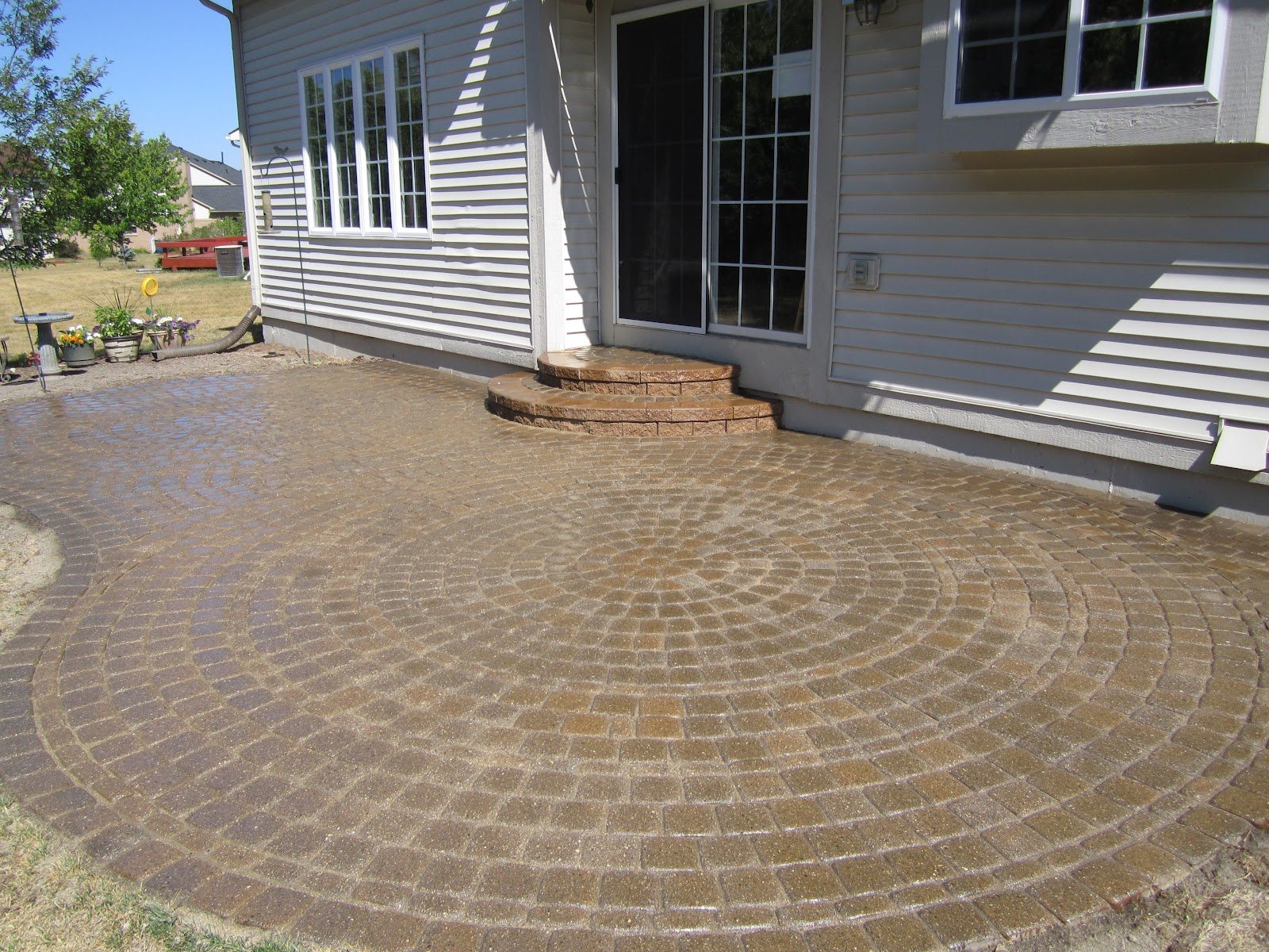 Brick pavers canton plymouth northville novi michigan repair cleaning - Restored Pavers Patio