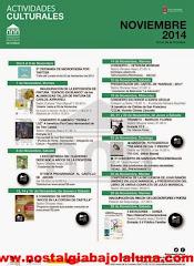AGENDA CULTURAL NOVIEMBRE ARCOS 2014
