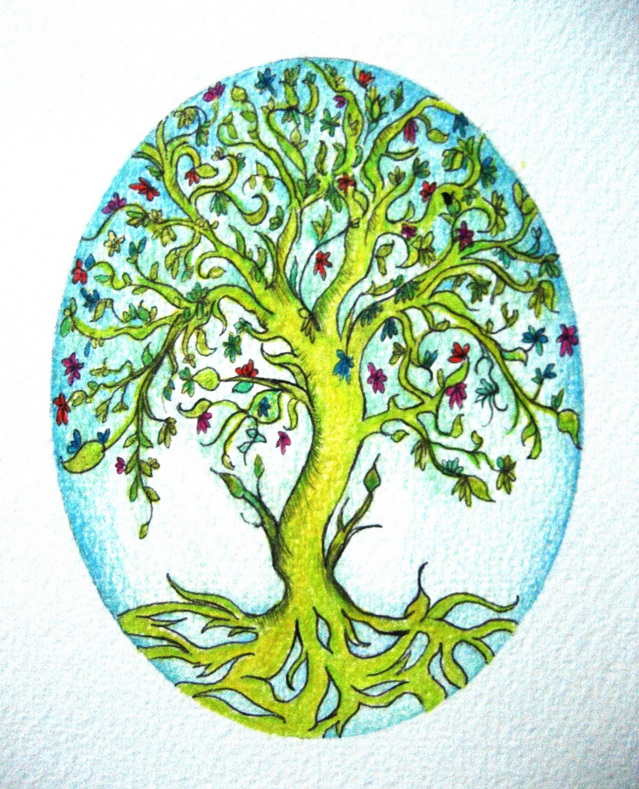 Tree Of Life Drawing Colorful | www.pixshark.com - Images ...