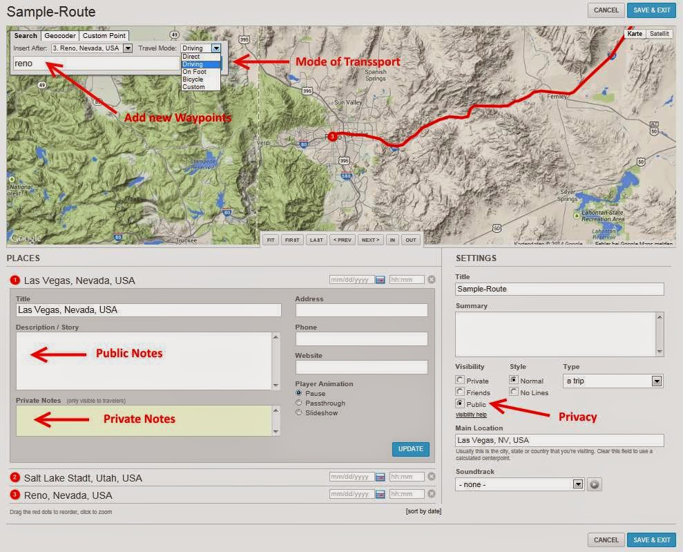 The Tripline workflow for adding waypoints to your rtw trip