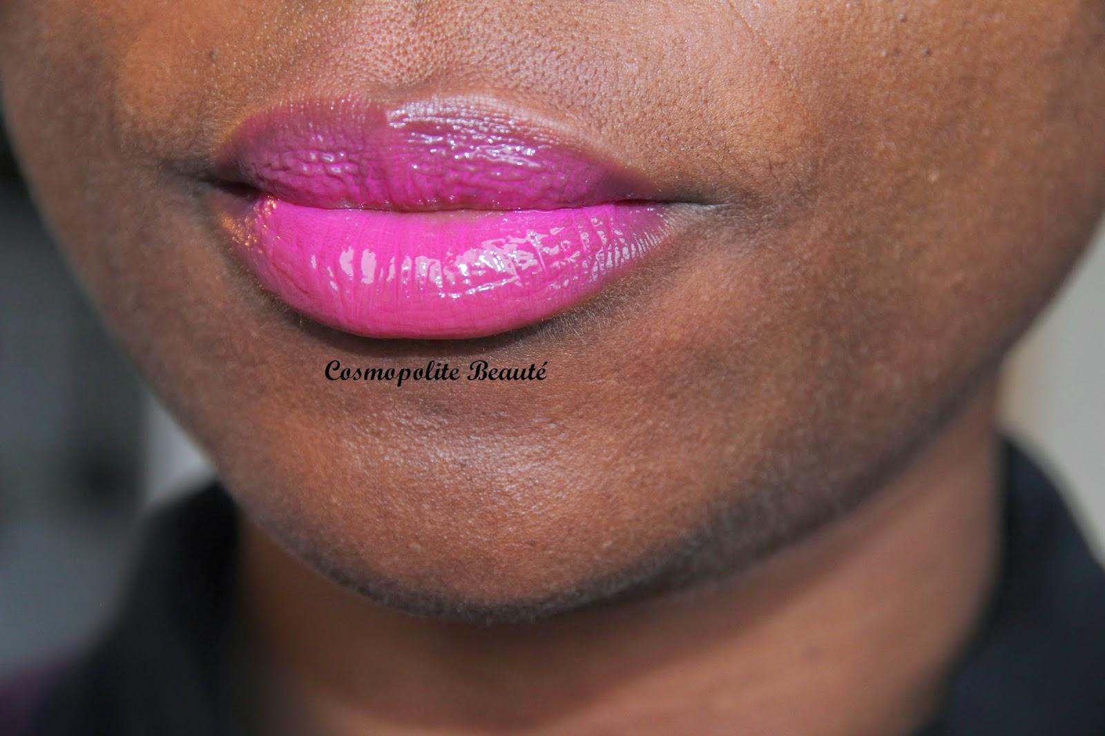 Color Elixir, Gemey Maybelline, laque à lèvres, rouge à lèvres, fushia, orangé, Cosmopolite Beauté, bouche