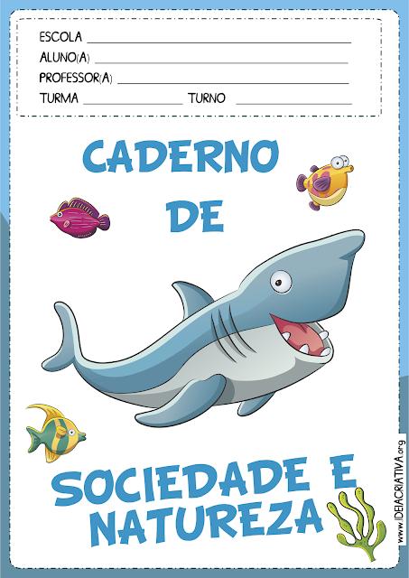 Capas para Caderno Fundo do Mar
