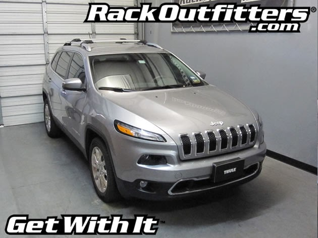 NEW Jeep Cherokee Thule SILVER AeroBlade EDGE Base Roof Rack '14 '16*