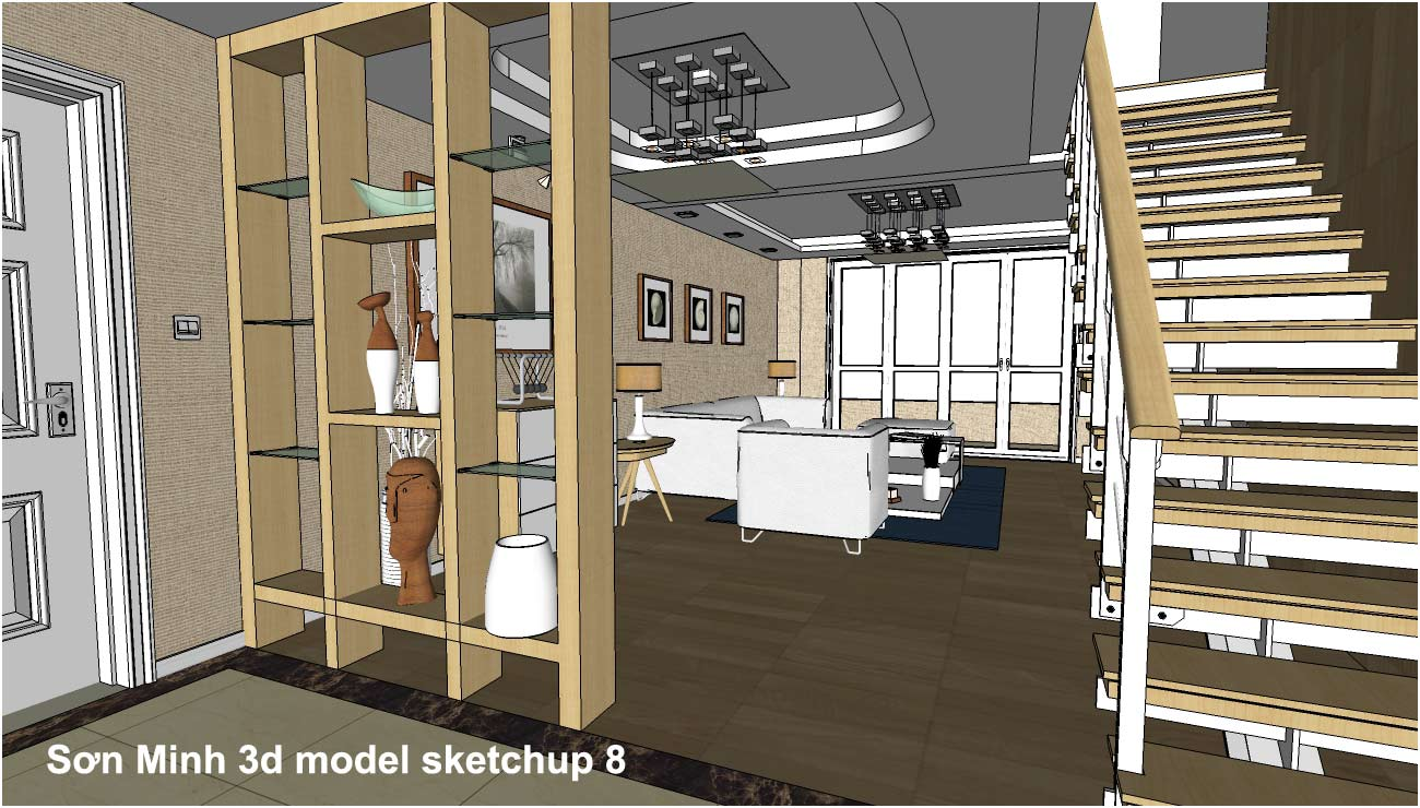 Sketchup texture sketchup 3d model living room 22 for 3d sketch online
