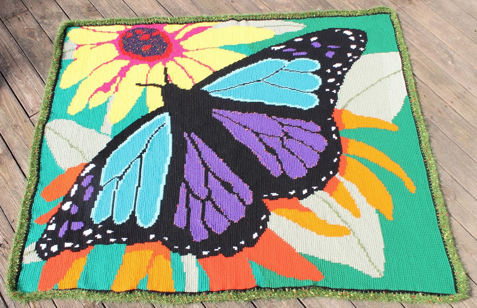 Butterfly Crochet Afghan Pattern Free : becks blog: Magnificent Butterfly Afghan