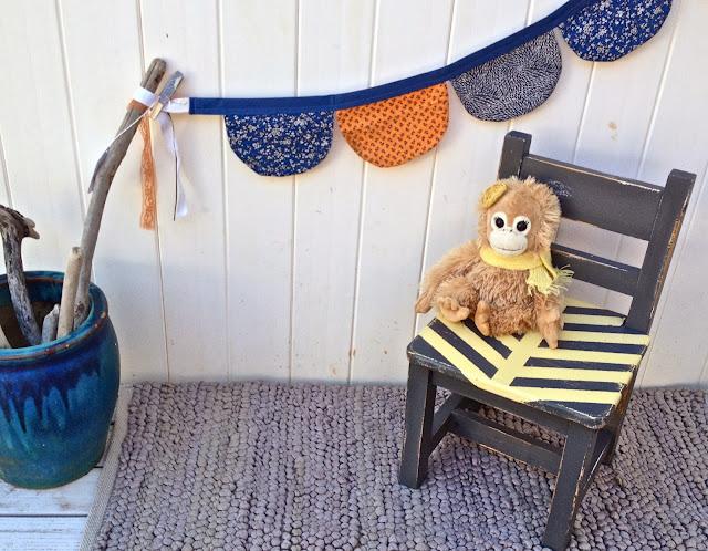 herringbone chair monkey bunting driftwood