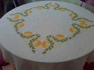 Toalha de mesa em ponto cruz