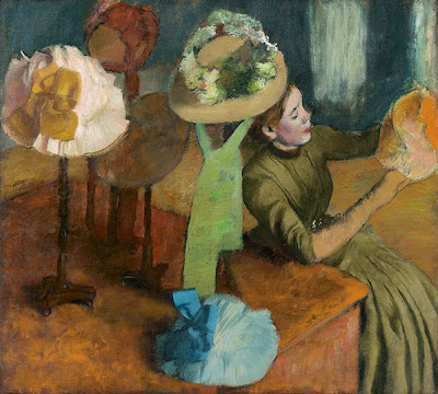 Edgar Degas. The Millinery Shop, ca. 1882–86 at AIC Impressionism, Fashion and Modernity