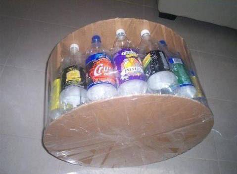 Haz un taburete reciclando botellas recicladas pet - Como hacer un puff redondo ...