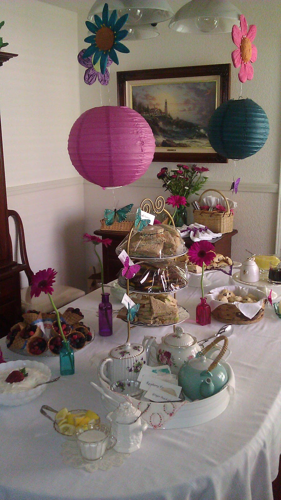 clearwater cottage baby shower tea party