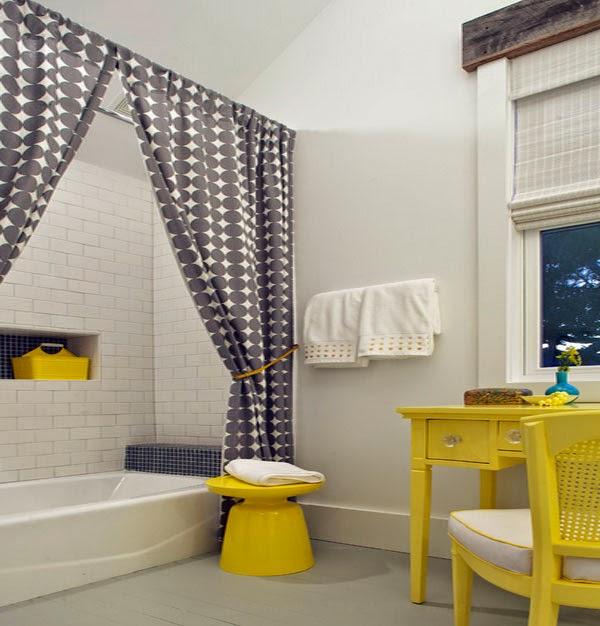 Dise os de cortinas de ducha hechas de seda ba os y muebles - Cortinas para ducha ...