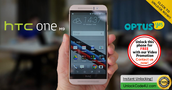 Factory Unlock Code HTC One M9 from Optus Yes