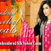 Gul-Ahmed Embroidered Dresses Silk Velvet Coats | Embroidered Dresses Long Coats