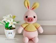 Crochet Pig Rabbit: ตุ๊กตาถักหมูกระต่าย