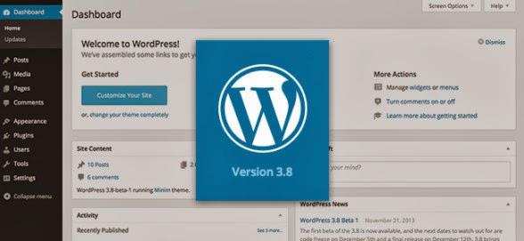 """""""ووردبريس"""" تُحدث منصتها بلوحة تحكم جديدة wordpress 3.8"""