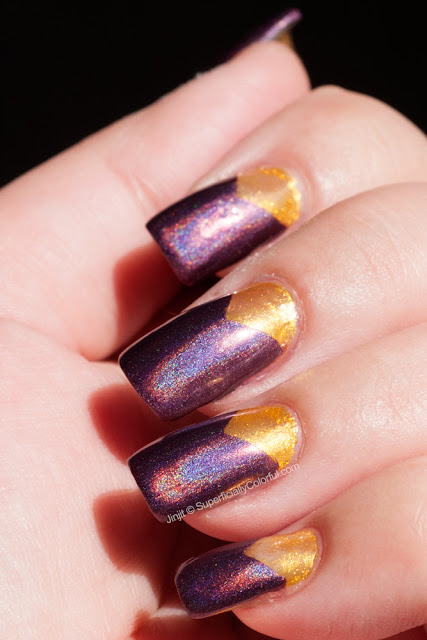 China Glaze When Stars Collide and Nfu Oh XW10