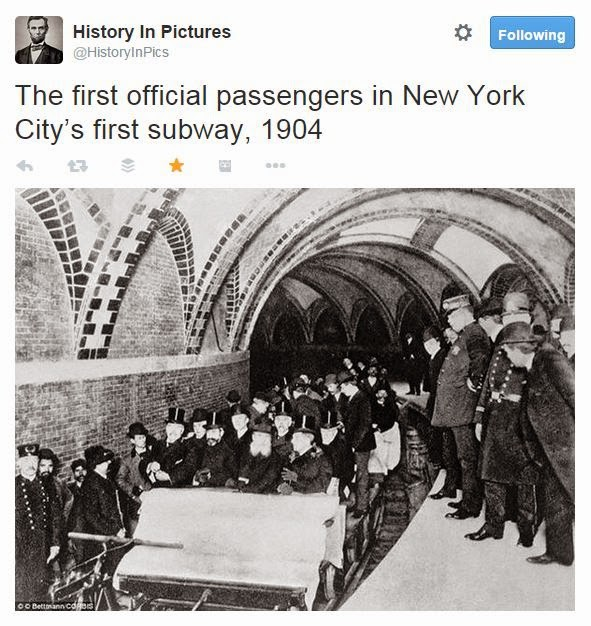 @HistoryInPics The first official passengers in New York City's first subway, 1904