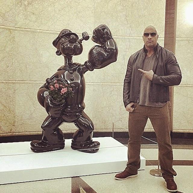 Popeye es más fuerte que The Rock