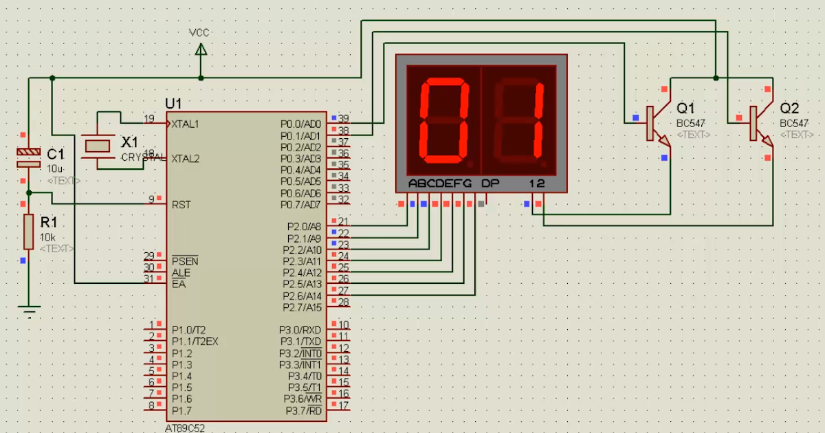 electronic projects  multiple 7 segment led display