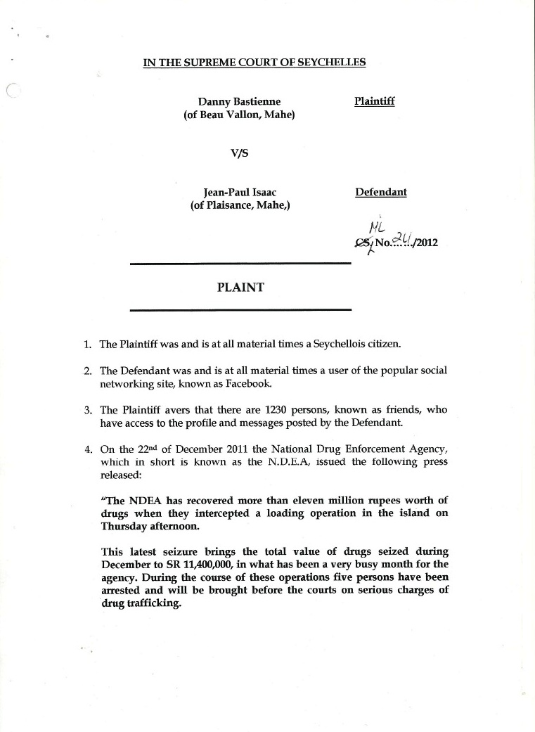 Seychelles reality seselwa unite april 2012 danny bastienne claims defamation from jean paul isaac though seychelles has no jurisdiction in the virtual world isaac is counter sueing hexwebz Choice Image